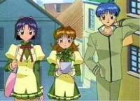 Miyako, Maron und Chiaki