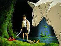 Ashitaka, San und ein Wolf
