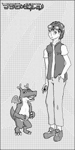 Fanart: Denrei und Dracomon - Rasterversion