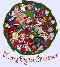 Fanart: A very merry digital Christmas
