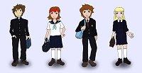Fanart: Digimon Battle Generation - Schuluniformen