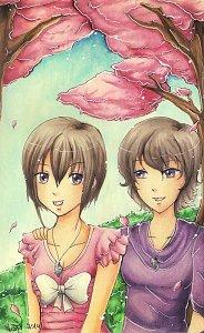 Fanart: Unter den Kirschblüten