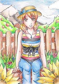 Fanart: Postkarte Sunflower