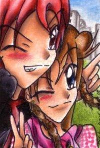 Fanart: ~Friends with some small Love-Effects~  *Kakao-Karte Nummer 17 für Jenny*
