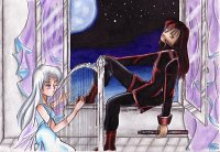 """Fanart: ~Go Away~ """"Let Me Be Alone, Nocturn!"""" - """"Now, now, my Hikari"""""""