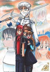Fanart: Im Himmel ist die Hölle los - Illustration zum Finale von Himitsu no Mahou
