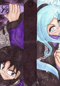 Fanart: ~Caligatio & Frigus~  - Mask of Ice & Youma Yami -