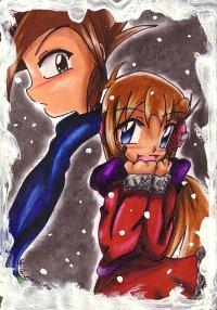 """Fanart: ~""""Wenn ich an dich denke...brauche ich keinen Schal... denn du wärmst mich""""~"""