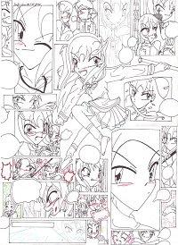 Fanart: ~The World of Himitsu no Mahou~ **Outlines**