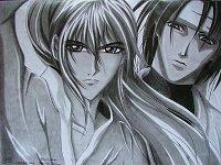 """Fanart: Takeo (Ken-san?^^) & Shido-kun zur FF """"Die Weiße Schlange"""""""