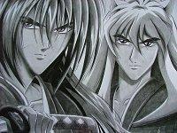 """Fanart: Klappe, die 2.: Takeo (Ken-san^^ mmmhh) & Yasha zu meiner FF """"Die Weiße Schlange"""""""