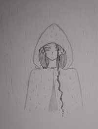 Fanart: Mei im Regen