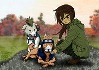 Fanart: Namira mit Shiba und Guruko