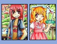 Fanart: ** ♥ ● Tekuu and LuckyAngel ● ♥ **
