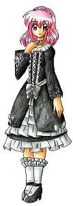 Fanart: kasuka in Gothic Lolita x3