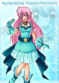 Fanart: Turquoise Pearl Voice! Kasuka Adachi