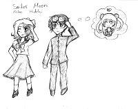 Fanart: Sailor Moon - Aiko & Hideki / 20 Minuten Challenge