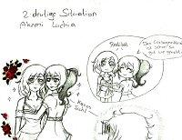 Fanart: zweideutige Situation - Akemi & Luchia / 20 Minuten Challenge
