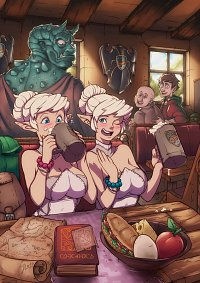 Fanart: Elves drinking beer for their first time