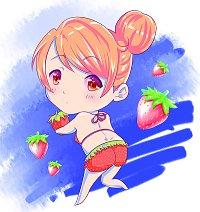Fanart: Charlotte im Erdbeerbikini