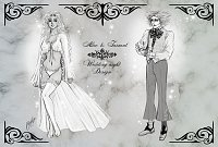 Fanart: FF Chara-Design - [Spoiler!] *~* wedding night style *~* AliceXMadHatter♥ ~Lineart