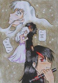 "Fanart: ""Ich hab dich trotzdem lieb"" ~Nocturn und White~ zu FF ""Himitsu No Mahou"""