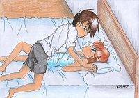 """Fanart: ~So nah... und doch so fern...~ Fanart zu FF """"Himitsu no Mahou : The Curse Between us """" - GxG -"""