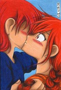 Fanart: I'm sorry that I hurt you  ++ Firey x Siberu (Himitsu No Mahou) ++
