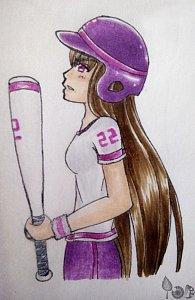 Fanart: Copic-Time 4 (Baseball Girl)