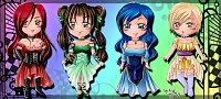 Fanart: Die vier Göttinnen der Elemente