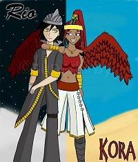 """Fanart: """"Denn ich lieb dich nicht und du liebst mich nicht!"""" - Rio und Kora"""