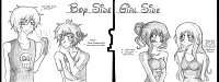 Fanart: Boys Side ~ Girls Side   #Crossover 01 Diano Magica & SnG