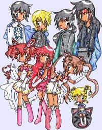 Fanart: Sailor Moon vs Himitsu no Mahou [HnM]