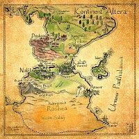 Fanart: Karte des Kontinents Altera (Der König von Kalaß)