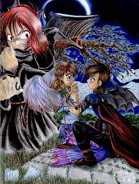 Fanart: *Die Schaukel* +++Himitsu no mahô-FA für Sakuja zu Weihnachten 2006+++