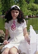 Cosplay-Cover: lolita alt, in weiß mit btssb-krawatte