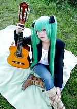 Cosplay-Cover: Hatsune Miku [play guitar]