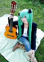 Cosplay-Cover: Hatsune Miku [play guitar]