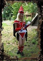 Cosplay-Cover: schwarzes magiermädchen - rote version