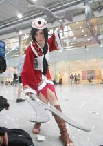 Cosplay-Cover: Akali, The Fist of Shadow [Blood Moon]