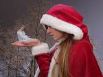 Cosplay-Cover: Ino Yamanaka (Weihnachtsversion)
