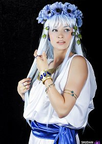 Cosplay-Cover: Umi Ryuuzaki (Greek Muse artbook version)