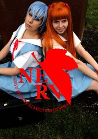 Cosplay-Cover: Asuka Langley (Schuluniform)