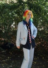 Cosplay-Cover: Rainbow Dash - Business style