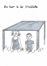 Cover: Das Feuer in der Strohhütte