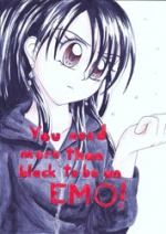 Cover: You need more than black to be an EMO!
