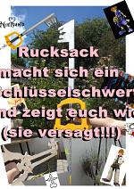 Cover: Rucksack macht sich ein Schlüsselschwert und zeigt euch wie =^-^= !