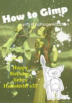 Cover: How to Gimp - mit Knopfaugenkätzchen