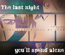 Cover: The last Night you'll spend alone