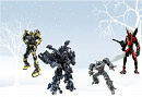 Cover: Ironhide, Ratchet, Jazz & Mirage starring in - Happy Holidays at the Lennox Farm !!